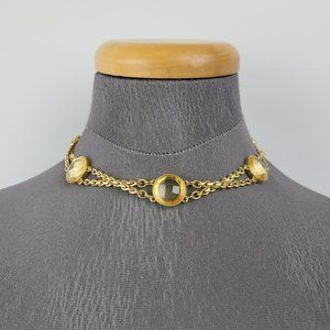 Kate Spade Gold Tone Faceted Choker Necklace